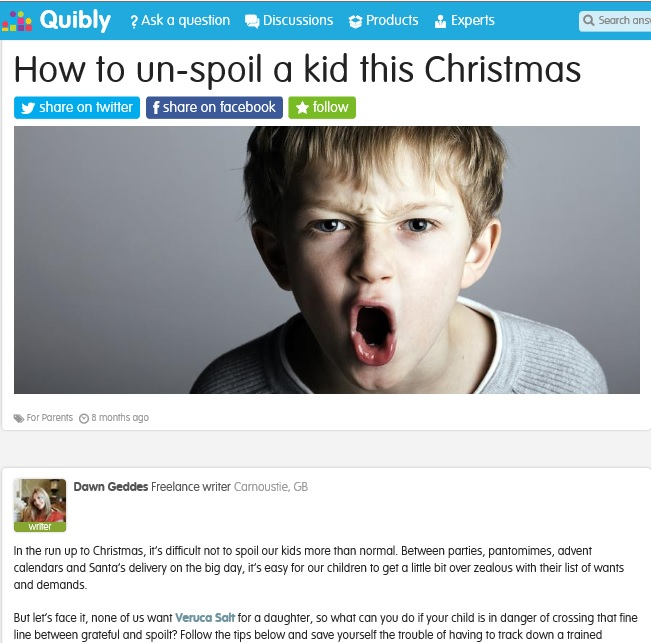 unspoil a kid
